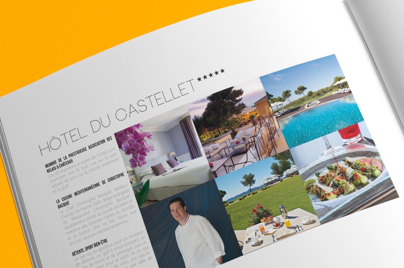 plaquette commerciale Destination Castellet - hotel