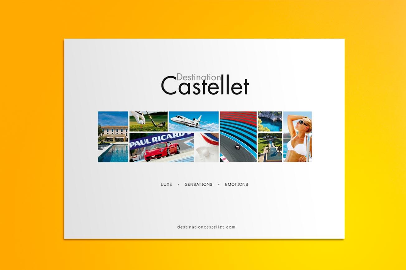 plaquette commerciale Destination Castellet